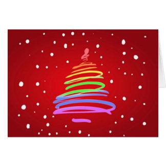 Gay Pride Christmas Tree Greeting Cards