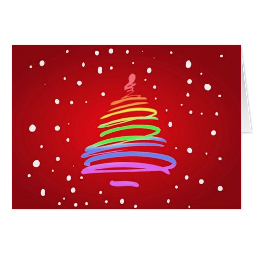 Gay Pride Christmas Tree Stationery Note Card