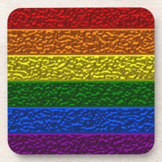 Gay Pride Chrome Flag Coaster