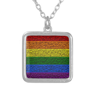 Gay Pride Chrome Flag Necklace
