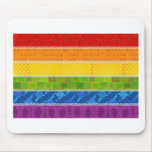 Gay Pride Colors Mouse Pads