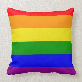 Gay Pride Colors Rainbow Flag Throw Pillow