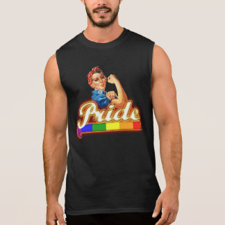 Gay Pride Colors We can Do it With Pride Sleeveless Shirt