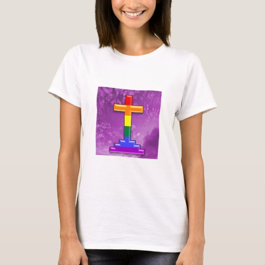 Gay Pride Cross T-Shirt