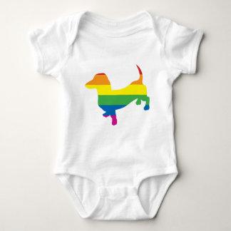 Gay Pride Dachshund/Wiener Baby Bodysuit