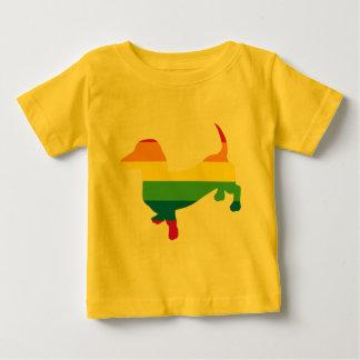Gay Pride Dachshund/Wiener Baby T-Shirt