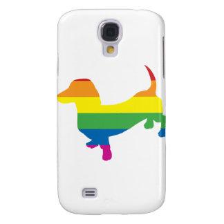 Gay Pride Dachshund/Wiener Samsung Galaxy S4 Cover