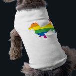"Gay Pride Dachshund/Wiener Tee<br><div class=""desc"">doxie for gay pride</div>"