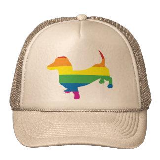 Gay Pride Dachshund/Wiener Trucker Hat