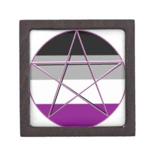 Gay Pride Demi Pan Goddess Symbol Keepsake Box