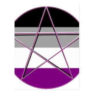 Gay Pride Demi Pan Goddess Symbol Postcard