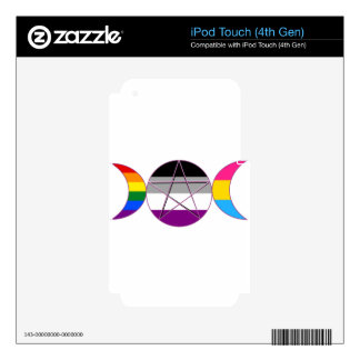 Gay Pride Demi Pan Goddess Symbol Skin For iPod Touch 4G