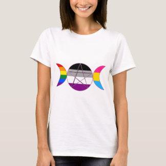 Gay Pride Demi Pan Goddess Symbol T-Shirt