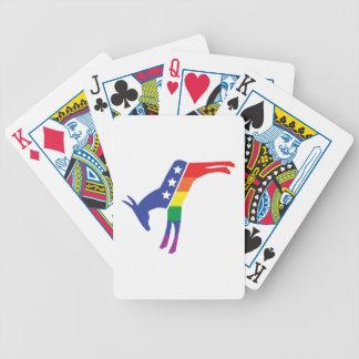 Gay Pride Democrat Donkey Bicycle Playing Cards