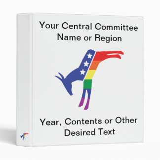 Gay Pride Democrat Donkey Binder