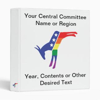 Gay Pride Democrat Donkey Binders