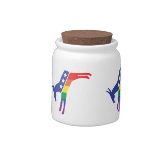 Gay Pride Democrat Donkey Candy Dish
