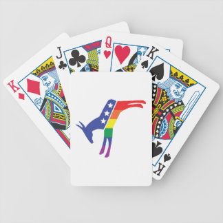 Gay Pride Democrat Donkey Card Deck