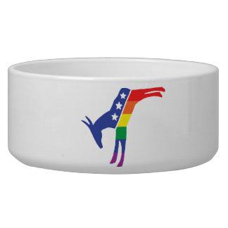 Gay Pride Democrat Donkey Dog Water Bowl