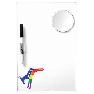 Gay Pride Democrat Donkey Dry-Erase Board