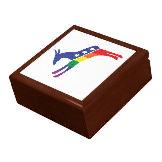 Gay Pride Democrat Donkey Jewelry Box