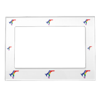 Gay Pride Democrat Donkey Magnetic Picture Frame