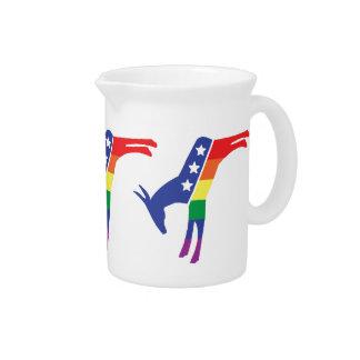 Gay Pride Democrat Donkey Pitcher