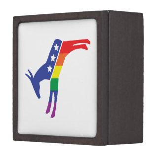 Gay Pride Democrat Donkey Premium Keepsake Box