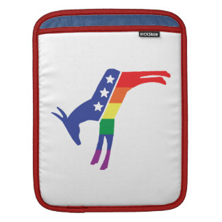 Gay Pride Democrat Donkey Sleeve For iPads
