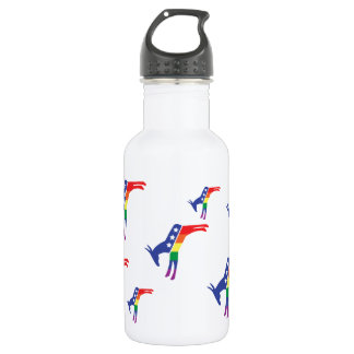 Gay Pride Democrat Donkey Stainless Steel Water Bottle