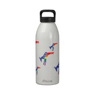 Gay Pride Democrat Donkey Water Bottle