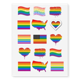 Gay Pride Designs Temporary Tattoos