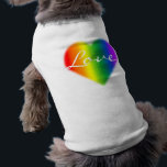 """Gay Pride Dog Shirt Rainbow Love LGBT Dog T-shirt<br><div class=""""desc"""">Gay Pride Shirts Dog&#39;s Rainbow Love T-shirts Same-Sex Pride Rainbow Love T-shirts for Your Pets Gay Pride Shirts Homosexual GBLT Men Women&#39;s &amp; Kid&#39;s Baby &amp; Pet LGBT Love T-Shirts Gay Pride Personalized Unisex Gay Pride Dog Shirts &amp; Gifts Click &quot;Customize&quot; to Add Text Choose Font and Custom Colours Stylish...</div>"""