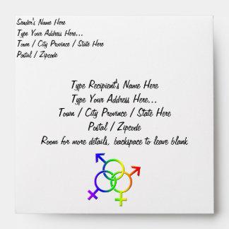 Gay Pride Envelope Personalize LGBT Pride Envelope