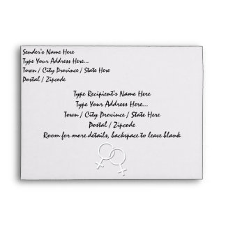 Gay Pride Envelopes Personalized Same-Sex Love