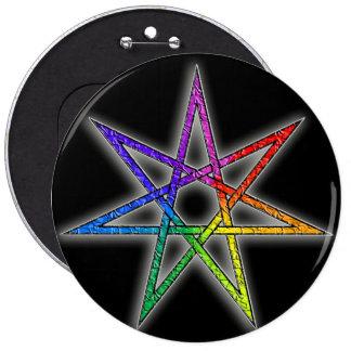 Gay Pride Fairy Star Pinback Button