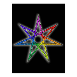 Gay Pride Fairy Star Postcard