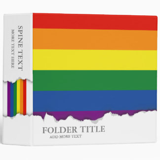 Gay pride Flag Binder
