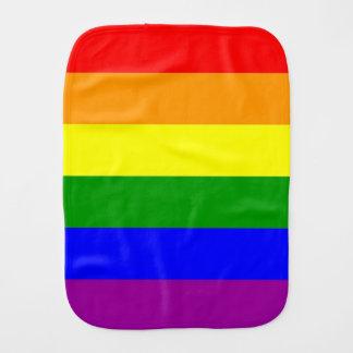 Gay Pride Flag Burp Cloth