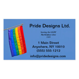 Gay Pride Flag Business Card