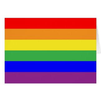 Gay Pride Flag Card