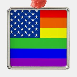 Gay Pride Flag Christmas Ornament
