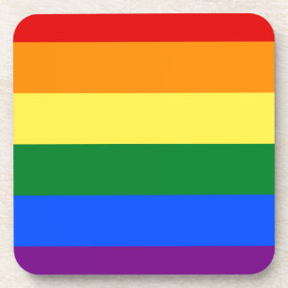 Gay Pride Flag Design Beverage Coaster