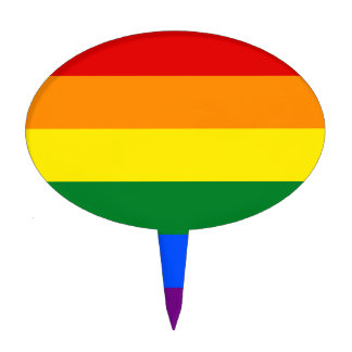 Gay Pride Flag Design Cake Topper
