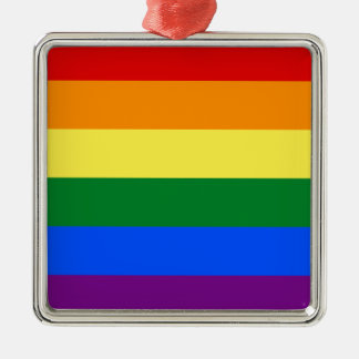 Gay Pride Flag Design Metal Ornament