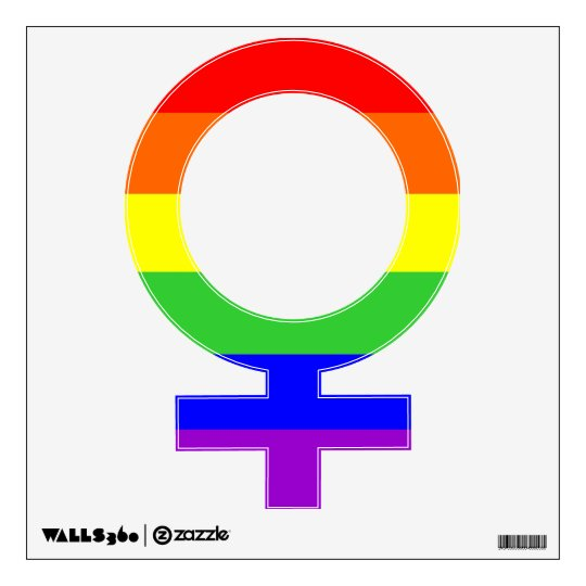 Gay Pride Flag Female Gender Sign Wall Decal