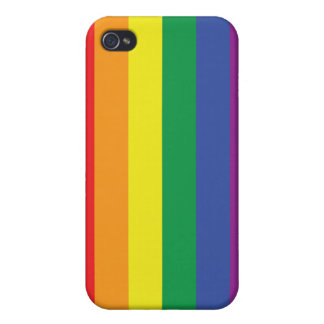 Gay Pride Flag Cover For iPhone 4