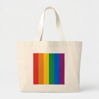 Gay Pride Flag Jumbo Tote Bag