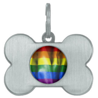 Gay Pride Flag Pet ID Tag