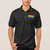 Gay Pride Flag Polo Shirt